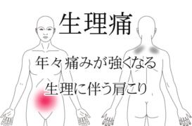 生理に伴う腹痛と肩こり